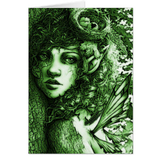 Green Dryad Forest Fairy All Occasion Card