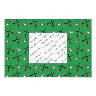 Green duck hunting pattern photo