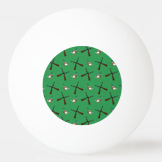 Green duck hunting pattern ping pong ball