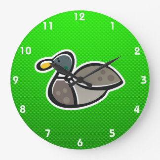 Green Duck Large Clock
