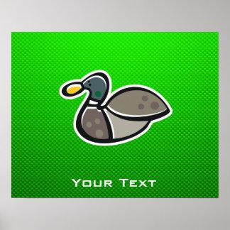 Green Duck Poster