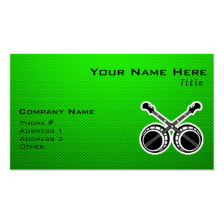 Green Dueling Banjos Business Cards