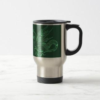 Green Durer Dragon Coffee Mugs