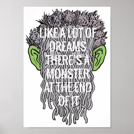 Green Eared Spaghetti Monster Poster