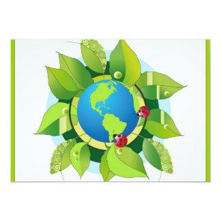Green_Earth (2) 13 Cm X 18 Cm Invitation Card