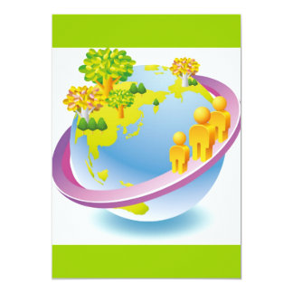 Green_Earth (4) 13 Cm X 18 Cm Invitation Card