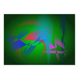 Green Earth Abstract Art Invitation
