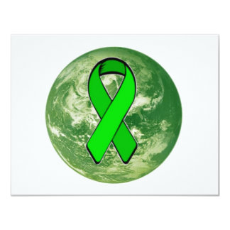 "Green Earth Awareness 4.25"" X 5.5"" Invitation Card"