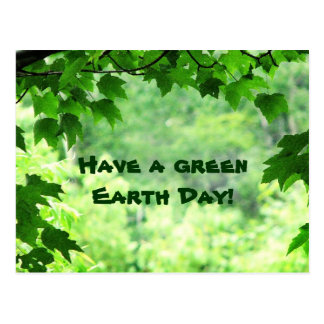 Green Earth Day Post Card