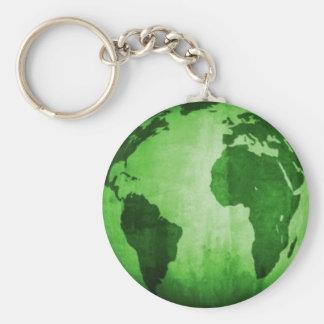 Green Earth Key Ring