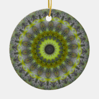 Green Earth Mandala Kaleidoscope pattern Christmas Ornament