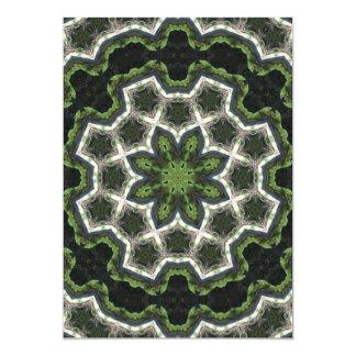 Green Earth Photo Mandala 13 Cm X 18 Cm Invitation Card