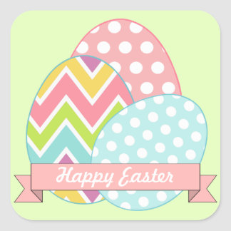 Green Easter Eggs Stickers