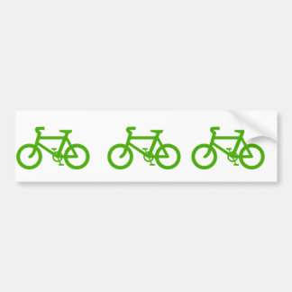 Green Eco Bicycle Bumper Sticker