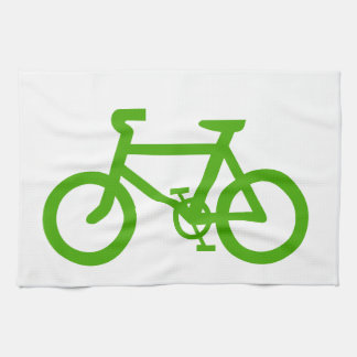 Green Eco Bicycle Tea Towel