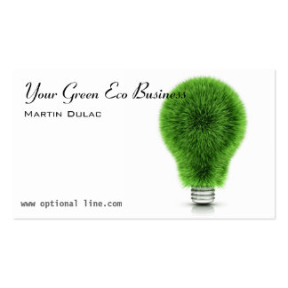 Green Eco Lightbulb Business Card