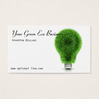 Green Eco Lightbulb Business Card