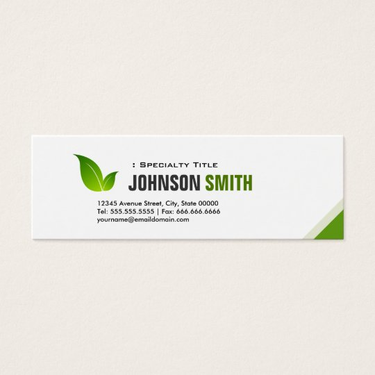 Green Ecology Bio - Elegant Organic Recyclable Mini Business Card