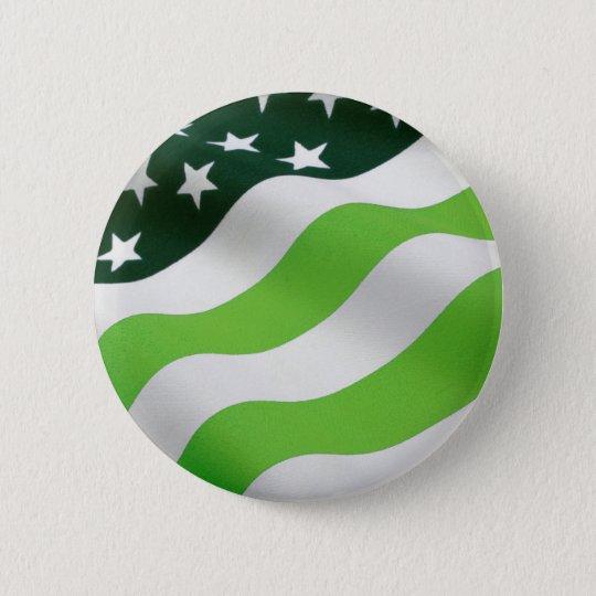 Green (ecology) flag 6 cm round badge