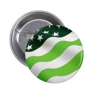 Green (ecology) flag 6 cm round badge