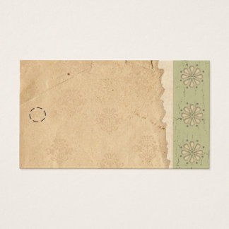 Green Edge Hang Tag Business Card
