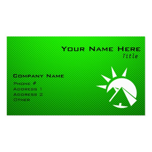 Green Egyptian Pyramid Business Card Templates