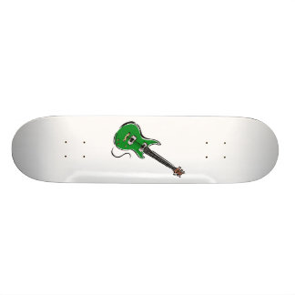 green electric guitar music graphic.png 19.7 cm skateboard deck