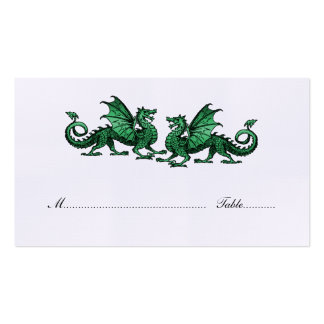 Green Elegant Dragons Wedding Place Card Pack Of Standard Business Cards