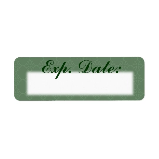 Green Elegant Expiration Date Labels