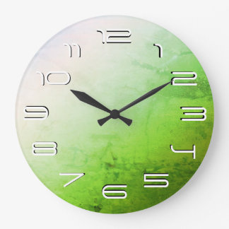 Green elegant simplicity large clock