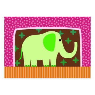 Green Elephant Business Card Template