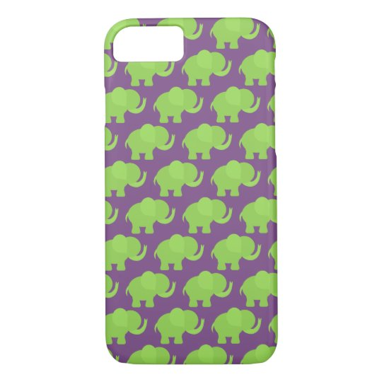Green Elephant Cell Phone Case