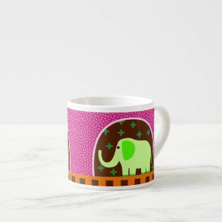 Green Elephant Espresso Mug