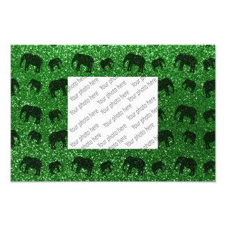 Green elephant glitter pattern photo