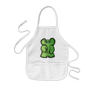 Green Elephant Kids Apron