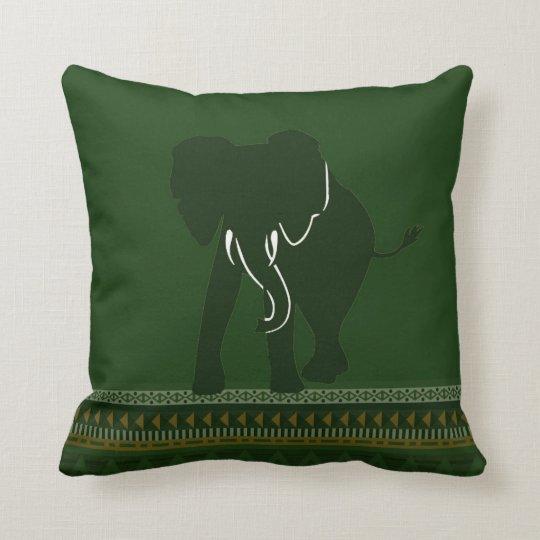 Green Elephant pillow