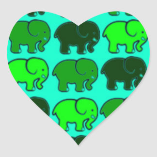 green elephants sticker