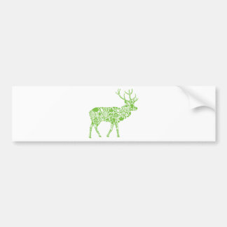 Green Elk Bumper Sticker
