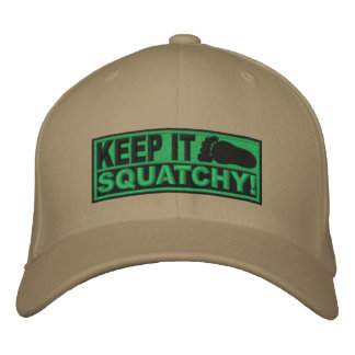 Green EMBROIDERED Keep It Squatchy - Bobo s Embroidered Hats