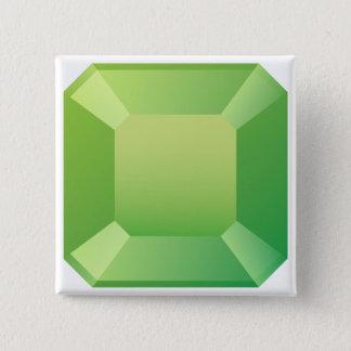 Green Emerald 15 Cm Square Badge