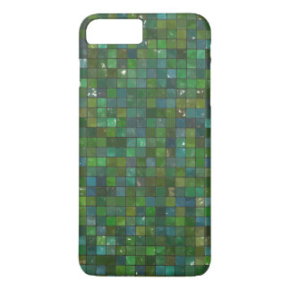 Green Emerald Shiny Glass Tiles Texture Background iPhone 7 Plus Case