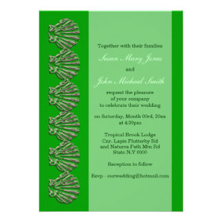 Green emerald wedding engagement anniversary card