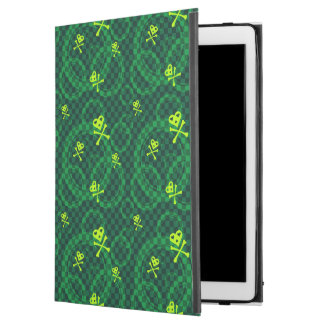 """Green Emo Pattern With Circles iPad Pro 12.9"""" Case"""