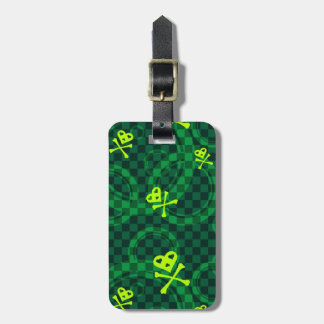 Green Emo Pattern With Circles Luggage Tag