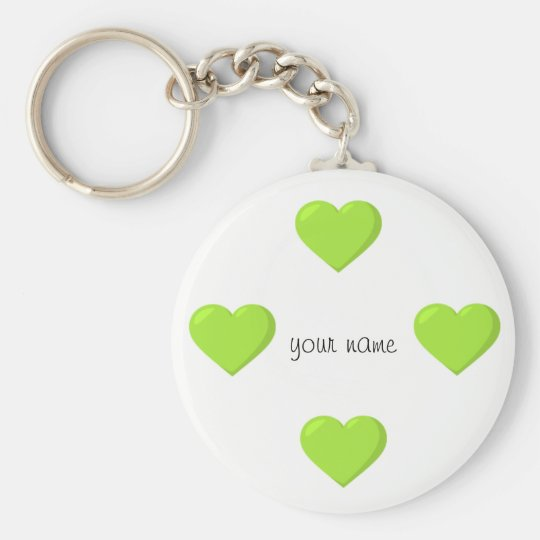 Green Emoji Hearts and '' Your Name Here