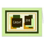 Green Employee Appreciation Great Job Card