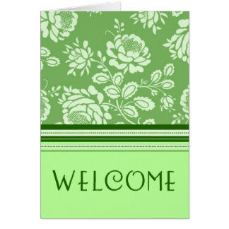 Green Employee Welcome to the Team Card
