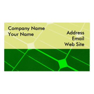 Green Energy Double-Sided Standard Business Cards (Pack Of 100)