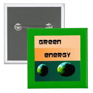Green Energy Design>Advertising 15 Cm Square Badge