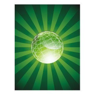 Green Energy Globe Postcard
